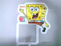 free shipping fluorescence on-off switch sticker SpongeBob SquarePants DIY wall decal 5 piece/lot