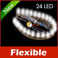 24 LED Flexible Car Strip Bulb Light Waterproof White