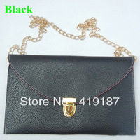 Free shipping discount promotion women's handbag fashion colorant match one shoulder handbag chain bag