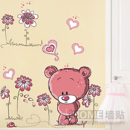 3 PIECES for Free Shipping Wall stickers cartoon child real wall stickers wall sticker j8229(China (Mainland))