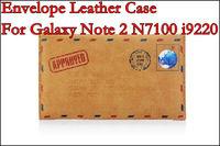 Samdi Envelope Leather Case For Galaxy Note 2 3 4 ,MOQ:1pcs,Free Shipping