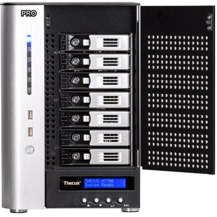 THECUS N7700PROv2 7-Drive Network Storage iSCSI,Raid 0, 1, 5, 6, 10, JBOD,10GbE Ready,Multiple RAID Share/Date Quard 4GB DDR2(China (Mainland))