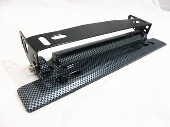 GOOD PRICE, Adjustable Carbon Fiber Look Bumber Plate, License plate frame