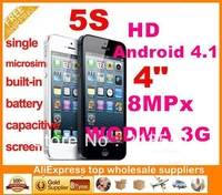 "Goophone I5 Android 4.1 MTK6575 16GB 8MPx 4.0"" Retina Capacitive Screen WCDMA 3G Smart Phone"