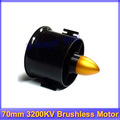 70mm Duct Fan + 3200KV Brushless Motor for lipo RC Jet+Free shipping