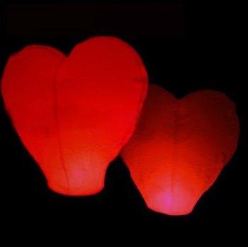 Valentine's day sky lantern i love you