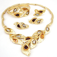 unique design jewelry free shipping DHL 18K african gold jewelry sets high quality jewery set