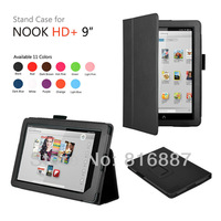 """1pc/lot Free Shipping For Nook HD+ 9"""" Tablet Case For Nook HD +9'' Stand Folio Case With Good Quality PU Leather"""