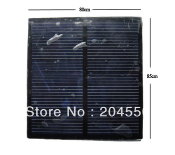 Portable 80X85mm 6V 0.8W mini small solar panel Cells solar charge small battery Material plate
