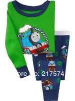 Child Cartoon Pajama Set 7309 In stock Children Cartoon Long Sleeve Pajama Retai Baby Sleeppants +long sleeve Underwears sets