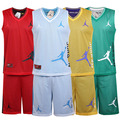 Jet-set reversible basketball clothes set plus size basketball clothing basketball training service mesh breathable male vest(China (Mainland))