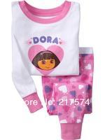 Child Cartoon Pajama Set 7168 In stock Children Cartoon Long Sleeve Pajama Retai Baby Sleeppants +long sleeve Underwears sets