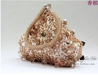 2014 New! Free shipping beaded bag,mini beaded clutch,bridal evening bag,coin purse,ladies party bag