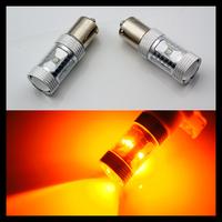 Newest 30W Amber yellow Bau15s 7507 PY21W High Power CREE LED Turn Signal Brake Light Bulb Amber