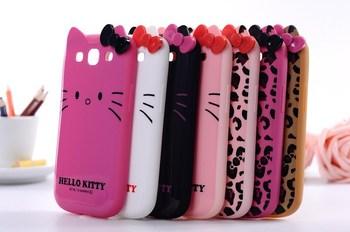 Cute cartoon Hello kitty Leopard hello kitty tpu soft case back cover for Samsung galaxy s3 i9300,free shipping
