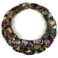 New Fashion Beautiful Mixed Sea Sediment Jasper & Pyrite Gemstone Jewelry Pendant Beads Set Wholesale