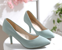 single shoes 2013 pointed toe ol work shoes plus size high-heeled shoes 40 - 43B656