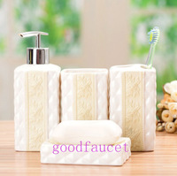 Free Shipping NEW 4PCS Ceramic Bathroom Accessories Soap Dispenser / Soap Dish/ Toothbrush Holder / Cup Bathroom Accessories