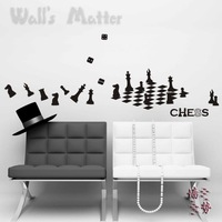 Chess wall stickers decoration decor home decal fashion cute waterproof bedroom living sofa family house glass cabinet