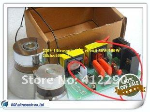 28khz Ultrasonic PCB Circuit 60W/220V,Price including matching Transducers(China (Mainland))