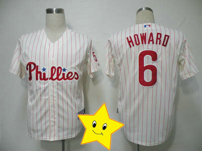 Fast Shipping phils Ryan Howard Jersey #6 white cheap cool base jersey 2013 Baseball jersey wholesale t shirt(China (Mainland))