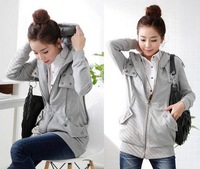 Free shipping women's clothing 2013 sweatshirt autumn and winter clothing sets of fingers cardigan women's hoodie sports wear