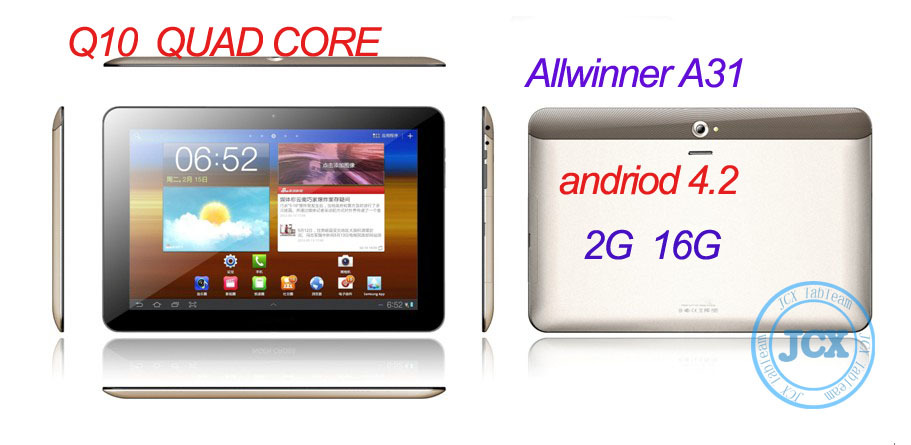 New Model 10 inch Allwinner A31 Quad Core Tablet with IPS Screen A31 tablet Q10 2G 16G andriod 4.1 10.1&quot; IPS 1280*800 dual cam(China (Mainland))