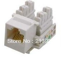 Free Shipping 100PCS /lot Brand New RJ45 Keystone jack Network Jack Cat5e/Cat 5e/5(China (Mainland))