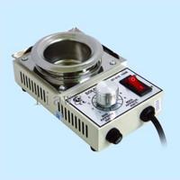 New Solder Pot Soldering Desoldering Bath 50mm 220V 150W ST21C ST-21C Silver  Free shipping