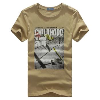 2013 summer male cotton short-sleeve o-neck 100% T-shirt okl slim tee