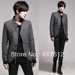 2013 Free Shipping New Arrival Men's Fashion Suit, Leisure Jacket & Hot Sales, Formal Suit, High Quality Tuxedo Black Gray