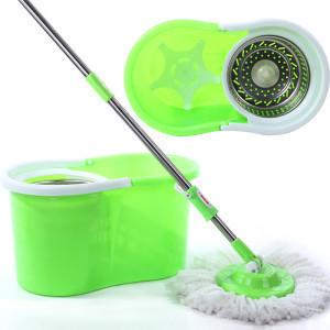 Home metal basket magic mop manual double spin mop magic