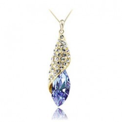 Austria Crystal KC Gold plated Fashion necklace up market Jewelry Fashion pendant -The light of the desert Free shipping(China (Mainland))