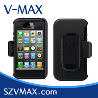 silicon case for iphone 4, 10pcs/lot, new retail box and clip or holster,  silicon+pc, free China air mail shipping