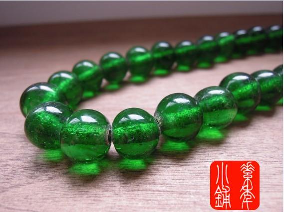 handmade esmalte colorido transparente verde pavão verde esmalte colorido talão 12mm(China (Mainland))