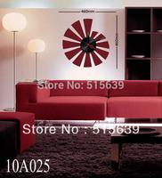 DIY Clocks Vinyl Designer Home Decor Wall Clock Sticker Mural Art Decals Red 10A025