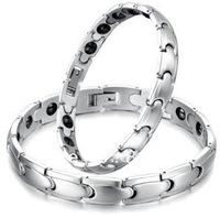FREE SHIPPING Fashion Men&Women Hygiene Jewelry titanium Stainless Steel Energy Bangle Bracelet,Gifts