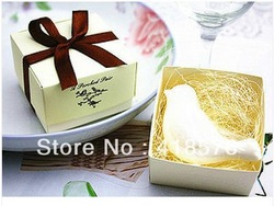 free shipping cheap sale 2013 cool novelty items and personality wedding favors mini Soap love bird Box gift packaging(China (Mainland))