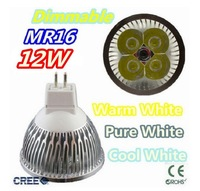 Super low price time buying 30pcs/lot Dimmable LED Lamp MRr16 4X3W 12W LED Light Bulbs High Power LED Spotlight