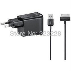 Europe AC Charger Adapter USB Cable for Android Samsung Galaxy Tablet PC GT-5100 5113(China (Mainland))