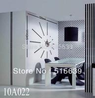 DIY Clocks Vinyl Designer Home Decor Wall Clock Sticker Mural Art Decals  Spiral point Black 10A022