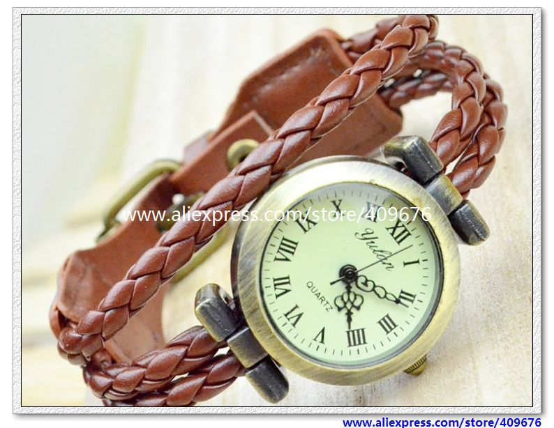 Promotion!!! Free shipping 10 pcs/lot Top Quality Cow leather watches ROMA watches header women watch(China (Mainland))