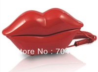 Cartoon workmanship telephone Red lips phone Creative electronic gift  Corded Fashion Beautiful Shipping free