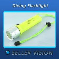 New CREE Q5 LED 500 Lm Diving Waterproof Flashlight SLM-0152