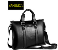 high quality fashion black coffee cowhide genuine leather men Briefcase Handbag Bag for retail and wholesale, free shipping SM3