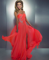 E0300 Halter sweet heart beads long  party prom dress