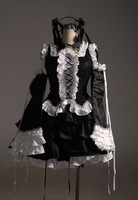 Free Shipping High Quality Vocaloid Miku Infinite/Holic Lolita Anime Cosplay Costume long sleeves custom made wholesale