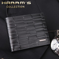 Male genuine leather wallet business casual men's wallet multi card holder purse male