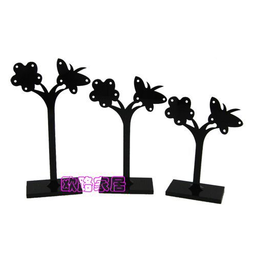Dish flower earrings display rack earring rack earrings frame jewelry holder piece set acrylic(China (Mainland))