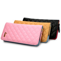 Women's wallet long design clutch bag sweet gentlewomen plaid day clutch